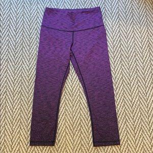 Purple cropped legging capris